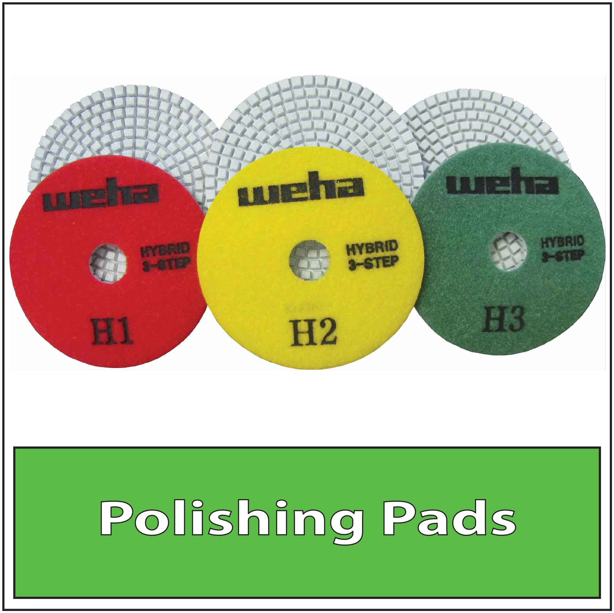 Granite Stone Diamond Polishing Pads Wet Dry