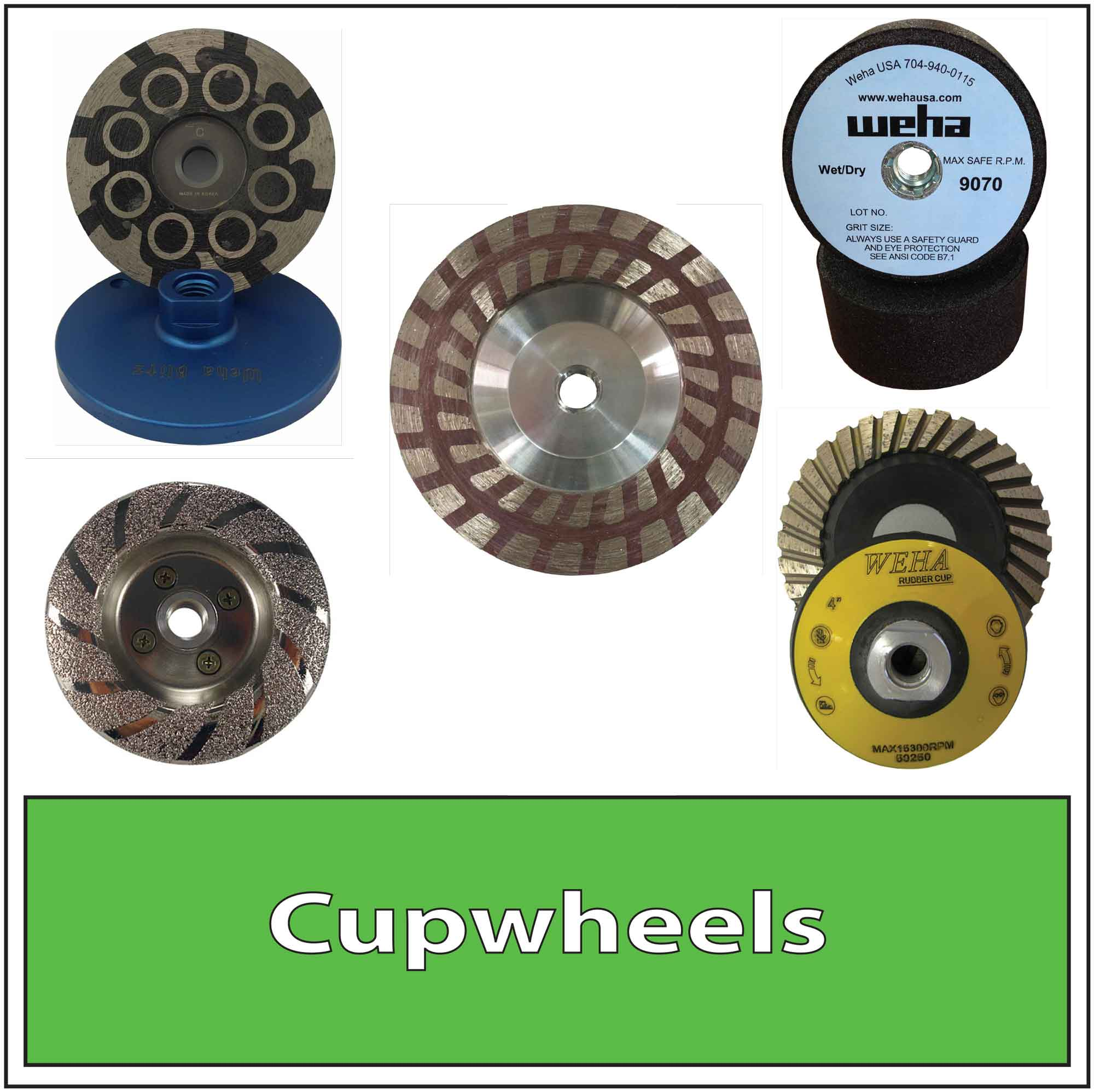Granite Stone Cup wheels Diamond Silicon Carbide Resin Filled