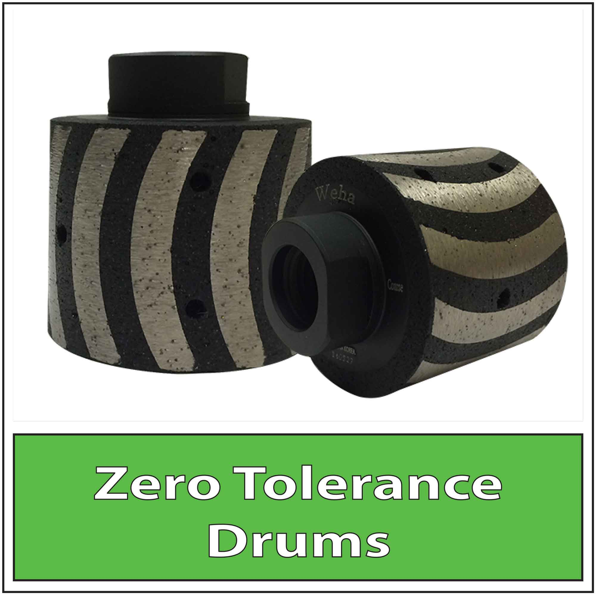 Granite Diamond Zero Tolerance Wheels Drums Vacuum Brazed Resin Filled