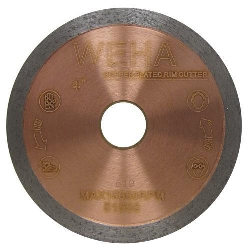"4"" Copper Core Diamond Blade, Copper Core Glass Blade, Copper Core Porcelain, Part # 51550"