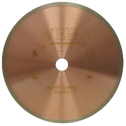 "10"" Copper Core Diamond Blade, Copper Core Glass Blade, Copper Core Porcelain, Part # 51553"