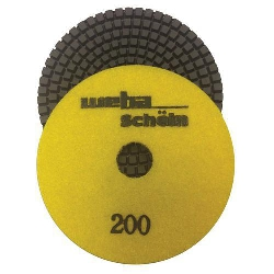 "Part#  113200 Weha 4"" granite diamond polishing pad 200 Grit"