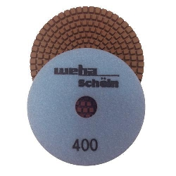 "Part#  113400 Weha 4"" granite diamond polishing pad 400Grit"