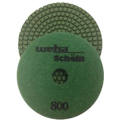 "Part#  113800 Weha 4"" granite diamond polishing pad 800 Grit"