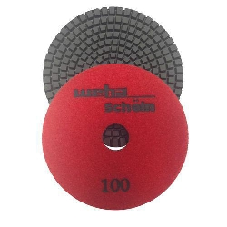 "Part#  1141500 Weha 4"" granite diamond polishing pad - 100 Grit"