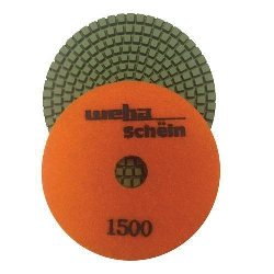 "Part# 1141500 4"" Weha Schein Diamond Polishing Pad 1500 Grit"