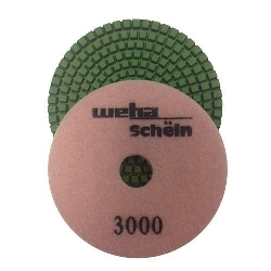 "Part#  1143000 4"" Weha Schein Diamond Polishing Pad 3000 Grit"