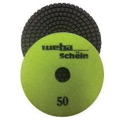 "Part#  11450 4"" Weha Schein Diamond Polishing Pad 50 Grit"