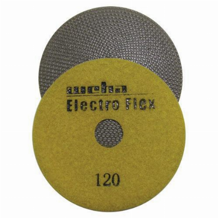 "Marble Electroplated Diamond Polishing Pad, Velcro Marble Pad 4"" 120, Part # 11461"