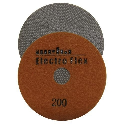 "Marble Electroplated Diamond Polishing Pad, Velcro Marble Pad 4"" 200, Part # 11462"