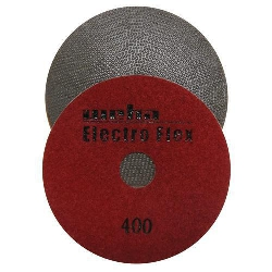 "Marble Electroplated Diamond Polishing Pad, Velcro Marble Pad 4"" 400, Part # 11463"