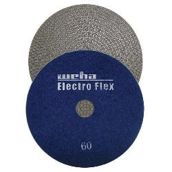 "Marble Electroplated Diamond Polishing Pad, Velcro Marble Pad 5"" 60, Part # 11560"