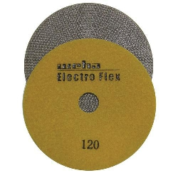 "Marble Electroplated Diamond Polishing Pad, Velcro Marble Pad 4"" 120, Part # 11561"