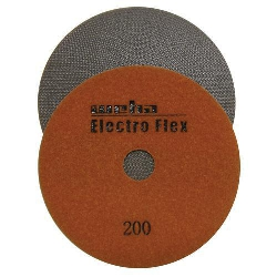 "Marble Electroplated Diamond Polishing Pad, Velcro Marble Pad 5"" 200, Part # 11462"