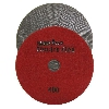 "Marble Electroplated Diamond Polishing Pad, Velcro Marble Pad 5"" 400, Part # 11463"