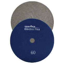 "Marble Electroplated Diamond Polishing Pad, Velcro Marble Pad 7"" 60, Part # 11760"