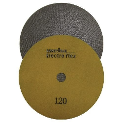 "Marble Electroplated Diamond Polishing Pad, Velcro Marble Pad 7"" 120, Part # 11761"