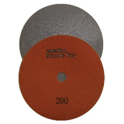 "Marble Electroplated Diamond Polishing Pad, Velcro Marble Pad 7"" 200, Part # 11462"