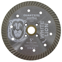 "Quartzite Turbo Blade, Quartzite Diamond Blade, Quartz Turbo Blade White Lion 5"" Part # 128900"