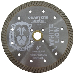 "Quartzite Turbo Blade, Quartzite Diamond Blade, Quartz Turbo Blade White Lion 5"" Part # 128901"