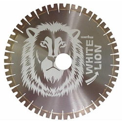 "14"" Quartzite Diamond Bridge Saw Blade White Lion Part#  128903"