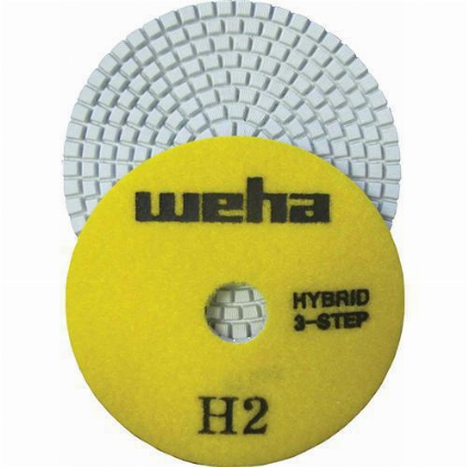 "Part#  13348 4"" Weha 3 STEP Hybrid Step 2 Diamond Polishing Pad Granite Marble Engineered Stone"
