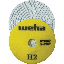 "Part#  13352 4"" Weha 3 Step Hybrid Diamond Polishing pad step 2 4 inch"