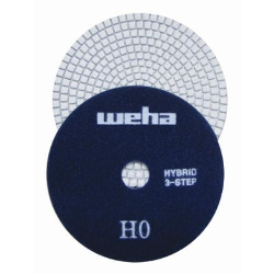 "Part#  13355 5"" Weha 3 STEP Hybrid Step 0 Diamond Polishing Pad Granite Marble Engineered Stone"