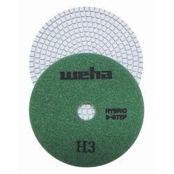 "Part# 13357 5"" Weha 3 STEP Hybrid Step 2 Diamond Polishing Pad Granite Marble Engineered Stone"