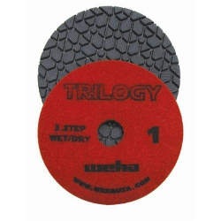 "Black Silestone, Brown Quartz, Gray Engineered Stone, Weha 4"" Trilogy Diamond Polishing Pads Wet/Dry 13361"