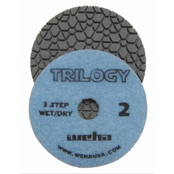"Silestone Polishing Pads, Dark Quartz, Weha 4"" Trilogy Diamond Polishing Pads Wet/Dry Pos 2 13362"