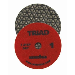 "Granite 3 Step Diamond Polishing Pad, 4"" Weha Triad Dry Diamond Polishing Pad Step1 13371"