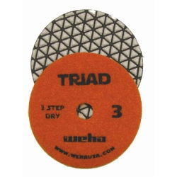 "4"" Weha Triad Dry Diamond Polishing Pad Pos 3 13373"