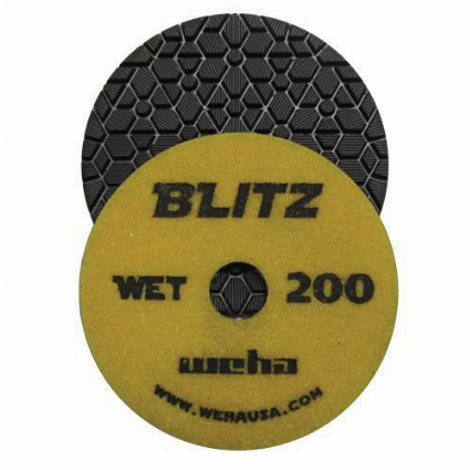 "Granite Polishing Pad, Diamond Polishing Pad,  4"" Granite Polishing Pad, Weha, 200 Grit Part #  134200"