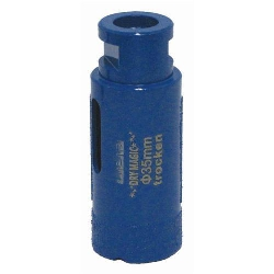 "1 3/8""-35mm Vacuum Brazed Core Bit, Dekton Core Bit, Porcelain Core Bit, Ceramic Dry Core Drill Part #134495"