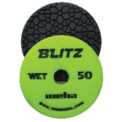 "Granite Polishing Pad, Diamond Polishing Pad,  4"" Granite Polishing Pad, Weha, 50 Grit Part#  13450"