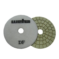 "Part#  134FBW Weha 4"" Ultra BUFF Final Polish White diamond Polishing Pad"
