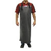 Weha Waterproof Grey Apron #137468