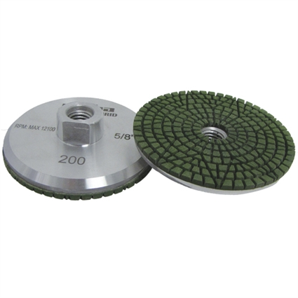200 grit Resin Filled Diamond Cupwheel, Aluminum Cup Wheel, Chip Free Grinding Pitbull, Part #142314