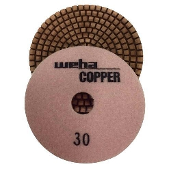 Cat # 15400 Weha Copper Diamond Polishing Pad 30 Grit