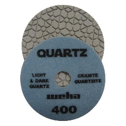 "Part#  164400 4"" Weha Quartz Diamond Polishing Pad 4 Inch 400"