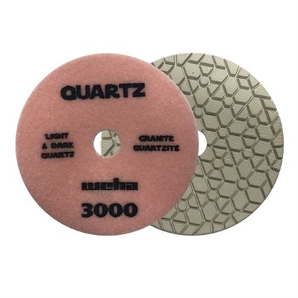 "Part#  1653000 5"" Weha ES Engineered Stone Diamond Polishing Pad 5 Inch 3000"