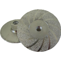 "Part # 30233 Weha 4.5"" Vac Brazed Flat Diamond Cupwheel - Medium"