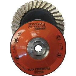 "Part#  50256 Weha 5"" Rubber Diamond Turbo Cup wheel - Medium"