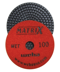 "Weha 4"" Matrix 7 Step Diamond Polishing Pads Wet 100 grit"