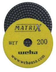 "Weha 4"" Matrix 7 Step Diamond Polishing Pads Wet 200 grit"
