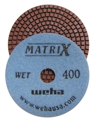 "Weha 4"" Matrix 7 Step Diamond Polishing Pads Wet 400 grit"