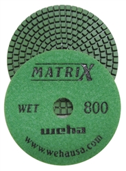 "Weha 4"" Matrix 7 Step Diamond Polishing Pads Wet 800 grit"