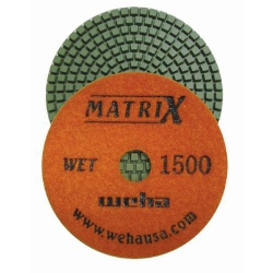 "Weha 4"" Matrix 7 Step Diamond Polishing Pads Wet 1500 grit"