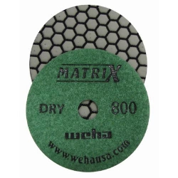 Matte Finish Honeycomb Diamond Polishing Pads for Granite, Marble, Stone part # 50412